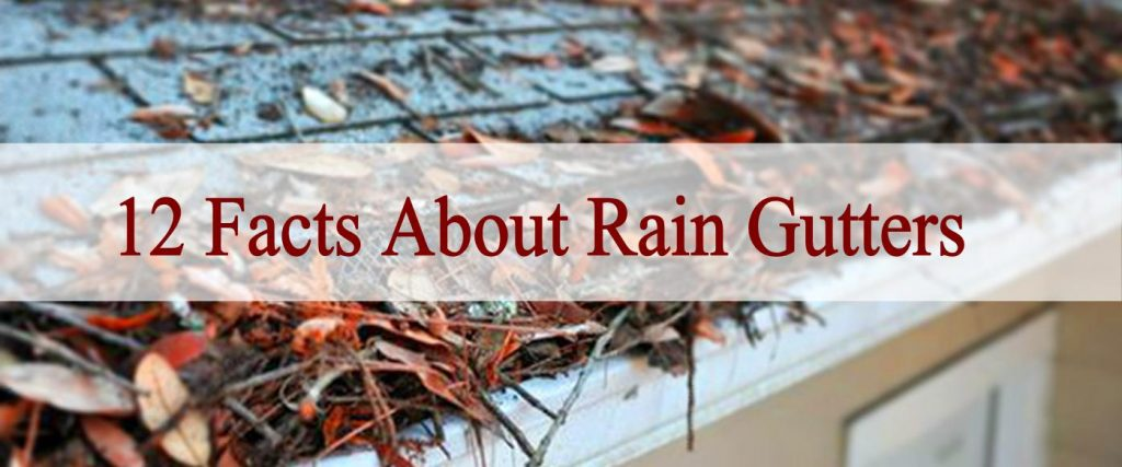 Facts about Rain Gutters