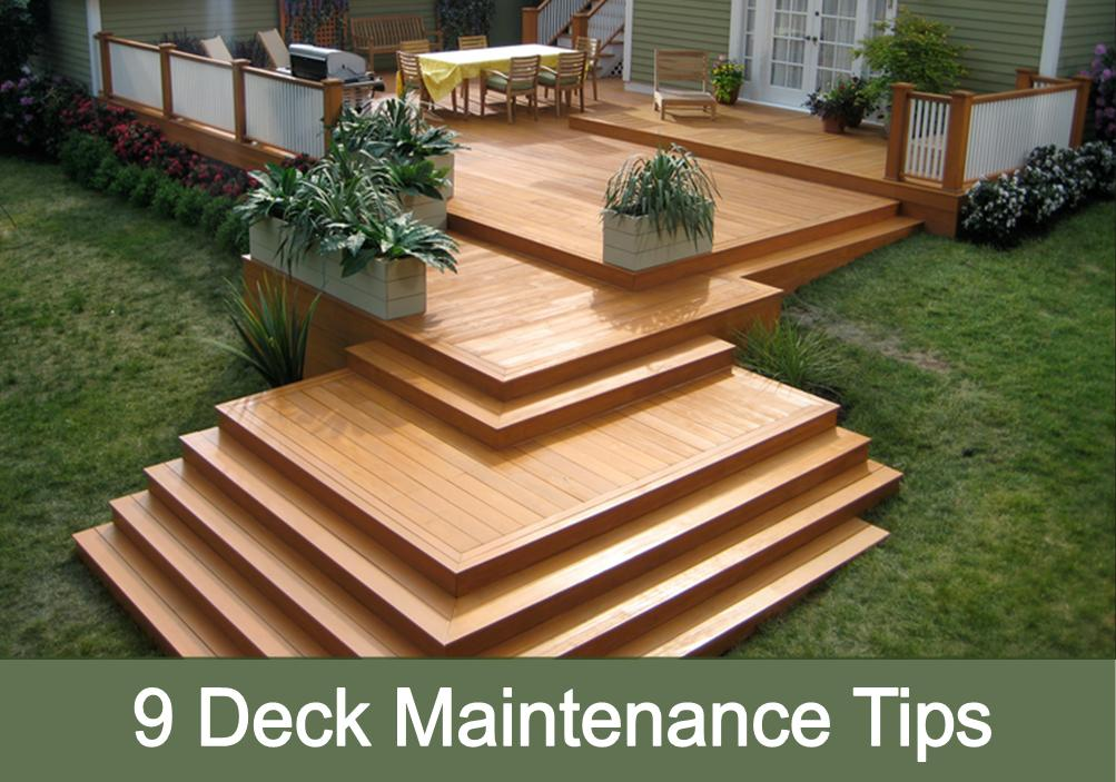 9 Deck Maintenance Tips