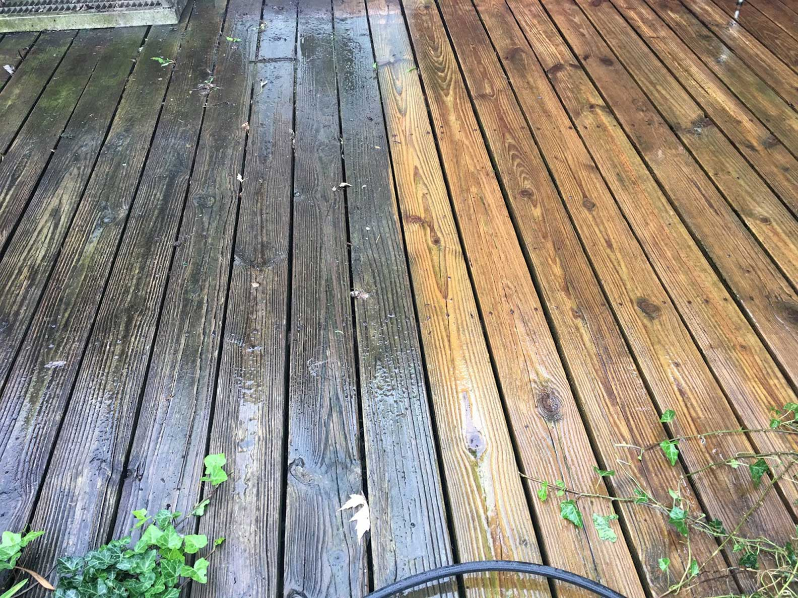 Power Washing Wood Deck